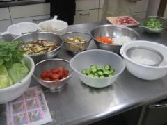 ハーイ!食材準備完了でーす