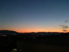 夕焼けのミルフィーユ。中央棟より。