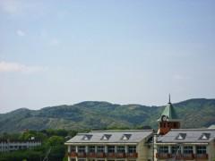 御館山小方面の緑と青。