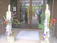 西棟玄関の門松。