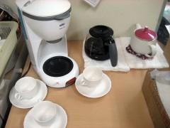 コーヒーの準備