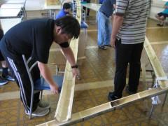 まずは竹を組み・・・